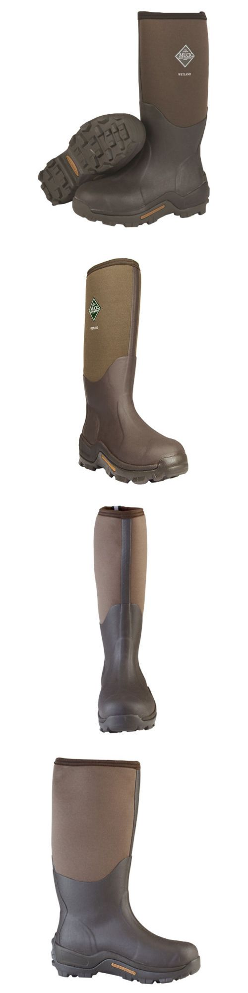 Hunting Footwear 153008: Muck Boot Company Wetland Premium Field Boot Wet-998K Color:Bark Men Size 12 -> BUY IT NOW ONLY: $102.95 on eBay!