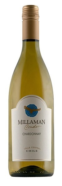 Millaman Condor Chardonnay 2011 - Fresh and vibrant chardonnay with a lovely plump mouthfeel and ripe notes of pear, pineapple and honey.  Solid, crowd-pleasing white that serves equally well as a food wine or on its own when theres a get-together.  100% chardonnay
