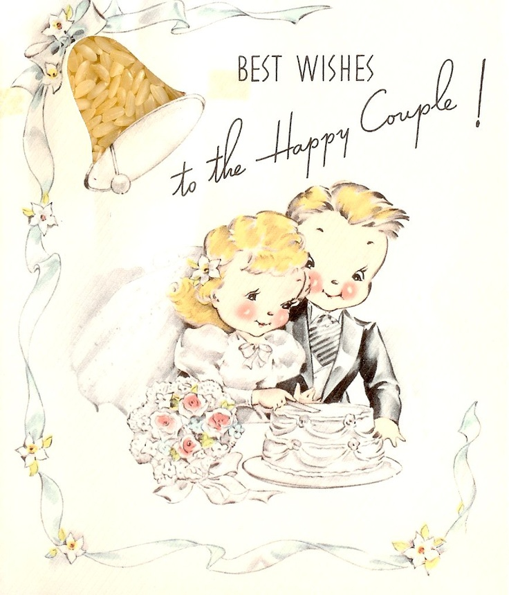 44 Best Images About Vintage Wedding And Anniversary Cards On Pinterest