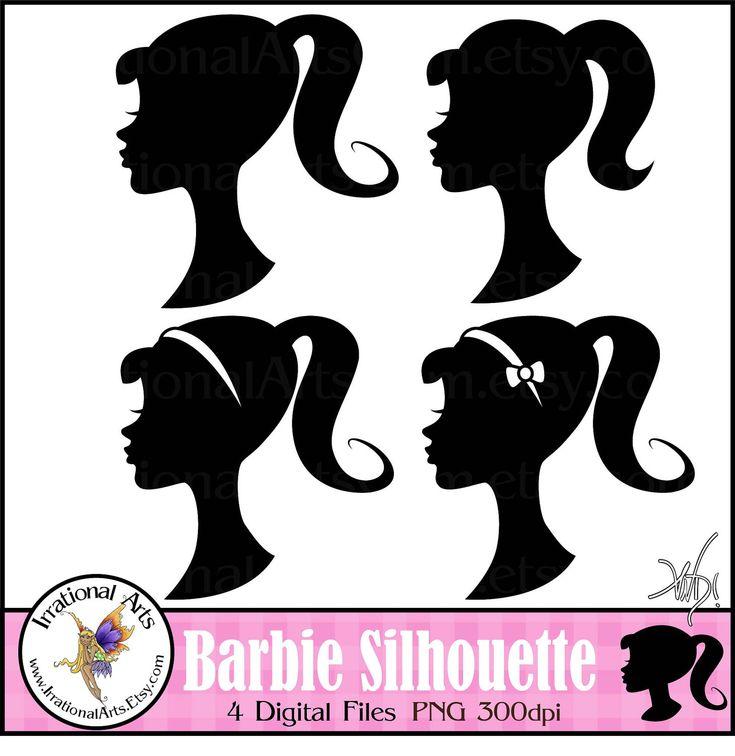 barbie barbie svg barbie silhouettes for silhouette cameo