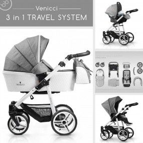 Venicci 3 in 1 Travel System Special Edition Pure