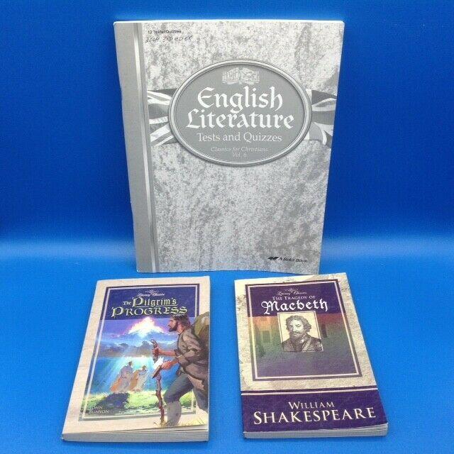 Abeka English Literature Tests Quiz 3rd Ed Macbeth Pilgrim S