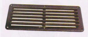 Rejilla Náutica de Ventilacion Pvc Negro 257 x 124mm