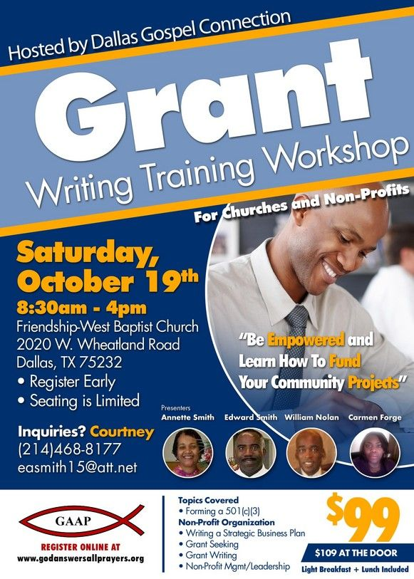 Grant writing workshops: new for 2012-13