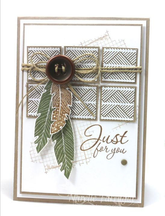 Four feathers ; Off the grid  ; Feathers framelits ; Masculine cards