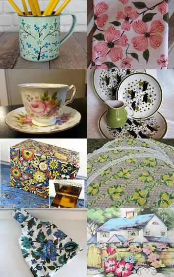 Everything is coming up roses....and daisies and tulips and... by beckylamphier on Etsy--Pinned with TreasuryPin.com