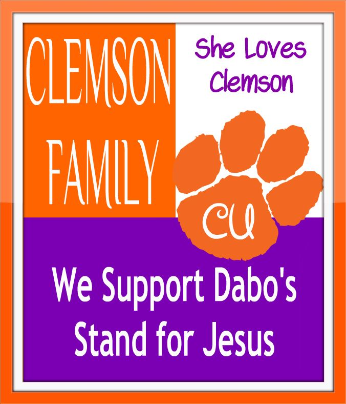 Join us @ She loves Clemson on FB today ! Stand with Dabo !