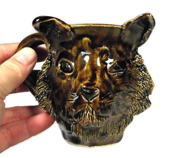 Brown Tabby Cat Mug  Coffee Cup for Cat Lovers by BigSkyArtworks, $25.00