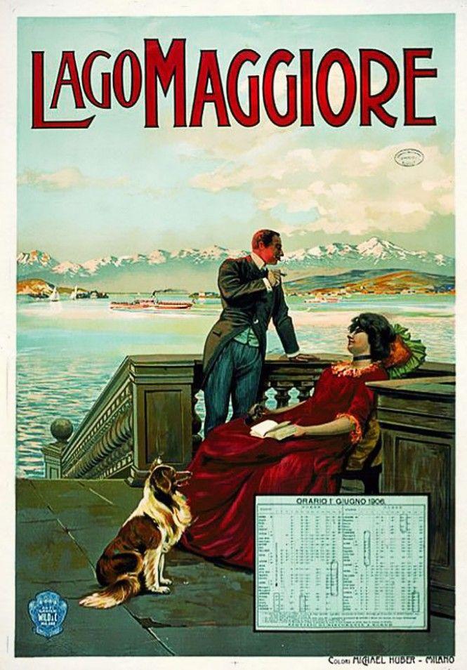 Lago Maggiore - Calendario con orari dei battelli a vapore della Navigazione del Lago Maggiore - Calendario dal 1 giugno 1906 - Michael Huber