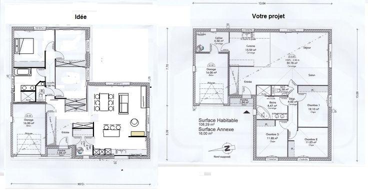 Plan maison neuve à construire - Maisons France Confort Natura 100 L
