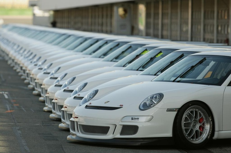 Porsche Cup Cars Lined Up Just Adorable Pinterest