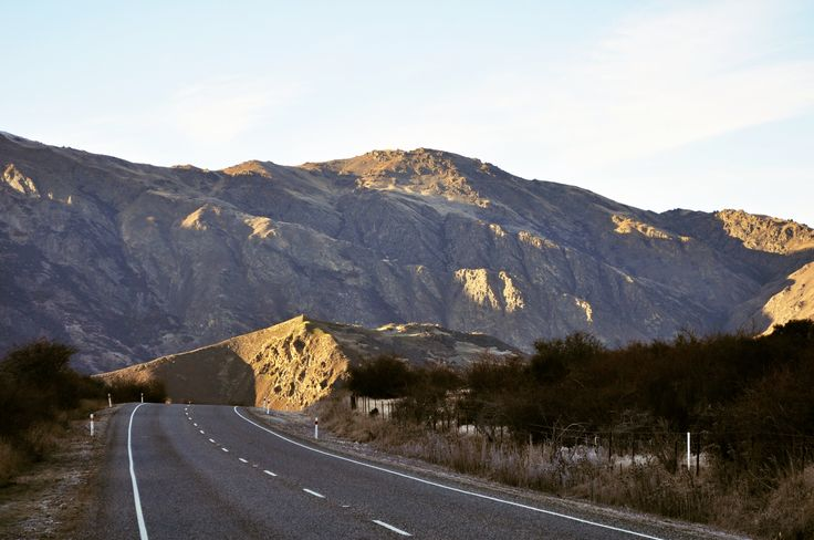 On the road just past the Gibson Valley between Arrowtown and Cromwell