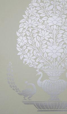 ELE-42508 | Peacock Vase Wallpaper