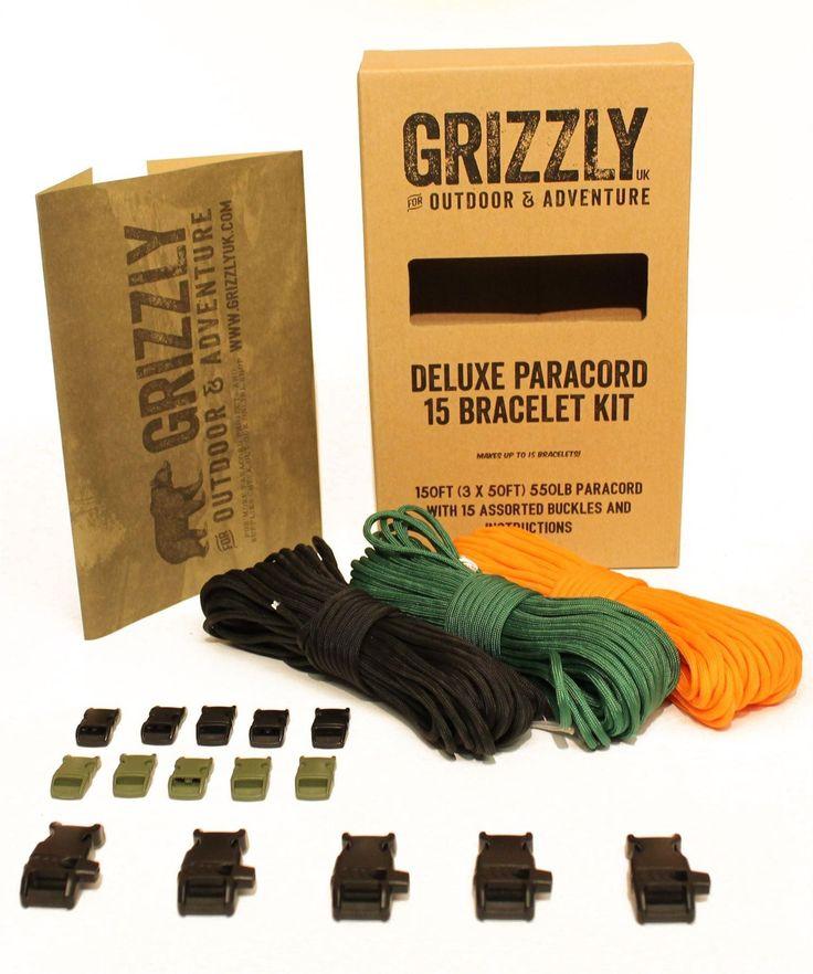 Grizzly Bushcraft - Paracord Bracelet Kit - 15 Bracelet
