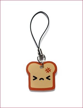 Burnt Toast Phone Charm ~ Colgador para celular ~ tostada >-<