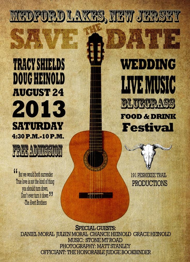 Rustic Music Wedding Announcement Keywords Savethedatemusicthemedweddings Jevelweddingplanning Follow Us