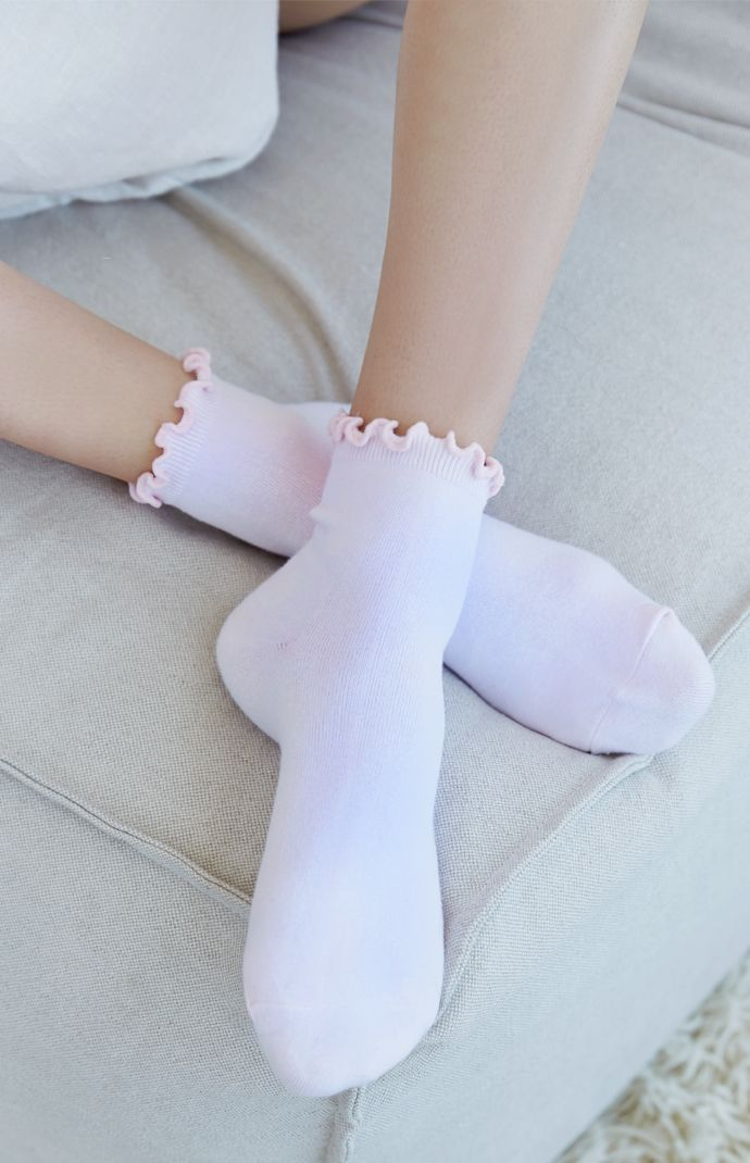 LA Hearts Ruffled Ankle Socks at PacSun.com