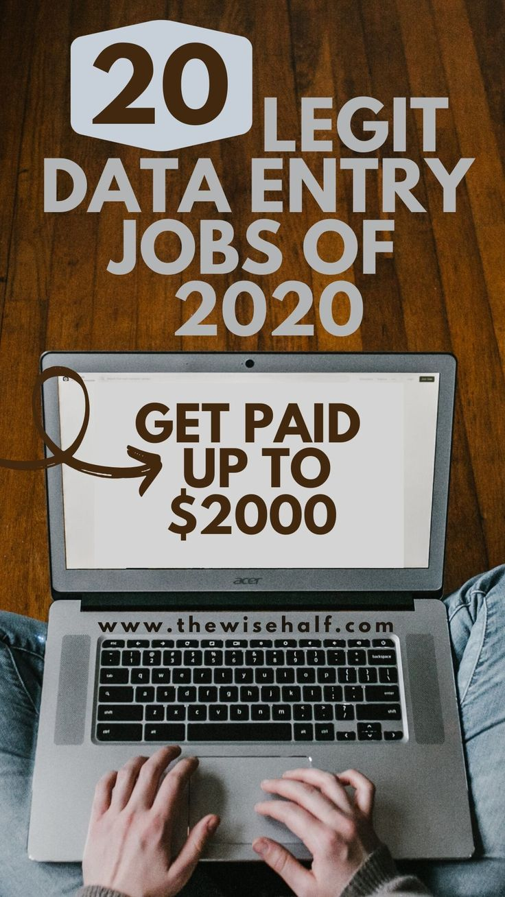 Legitimate part time data entry jobs from home this 2020