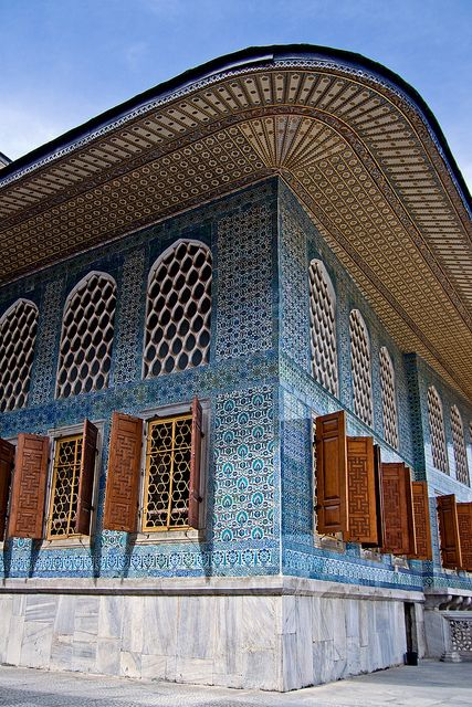 Topkapi Palace, Istanbul. The center of Ottoman might for almost 5 centuries, Topkapi Palace is a place of Oriental mystique, conjuring images of turbaned sultans and their harems, of pasas and eunuchs, and of an empire that wielded transcontinental influence at a time when the West was still living in the Dark Ages. The Treasury Room alone is enough to desensitize a woman to diamonds, rubies, and pearls.