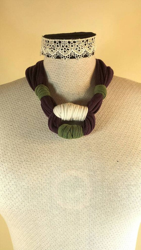 Check out this item in my Etsy shop https://www.etsy.com/ca/listing/288645183/plum-tshirt-necklace-with-loop-detail