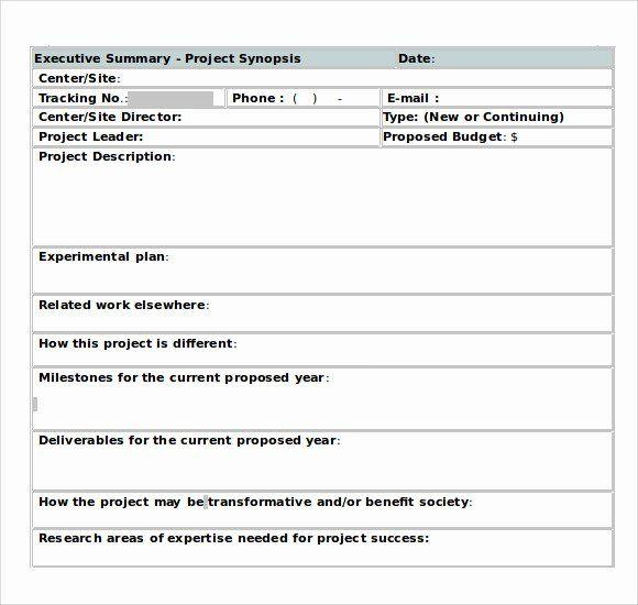 Word Executive Summary Template In 2020 Executive Summary