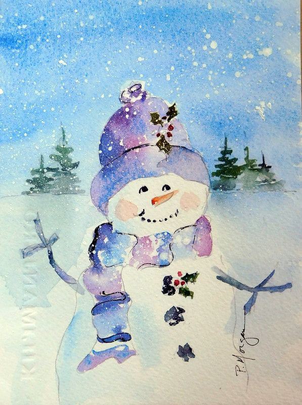 Weihnachtsbilder Pinterest.Pin By Opal Buloni On Watercolor Inspiration In 2019 Watercolor
