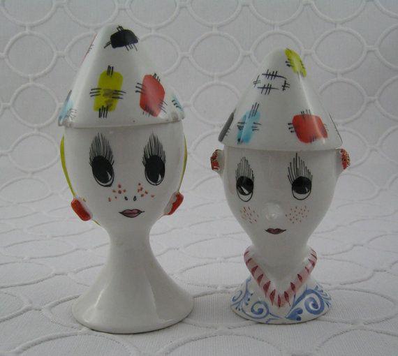 vintage egg cups!  So cute