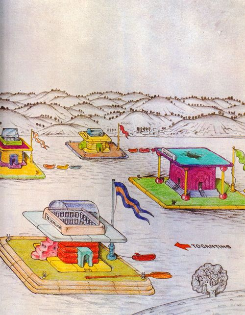 Ettore Sottsass, Architectural Rafts, 1973