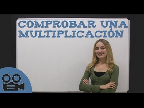 Comprobar una multiplicación - YouTube