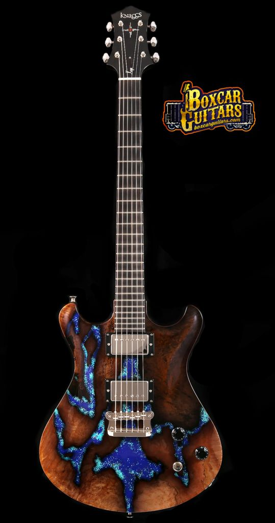 Knaggs Guitars Keya T2 Spalted Maple Lapis Stone – Boxcar Guitars