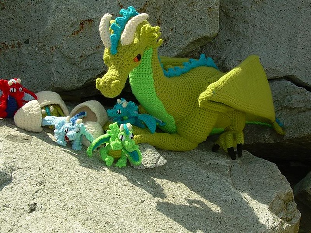 NEW - Guardian the Dragon with Babies and Egg PDF Crochet ...