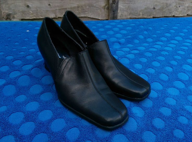 Marks & Spencers Footglove Black Womens Leather Shoes Size 3 UK 35.5 EU in Clothes, Shoes & Accessories, Women's Shoes, Heels | eBay