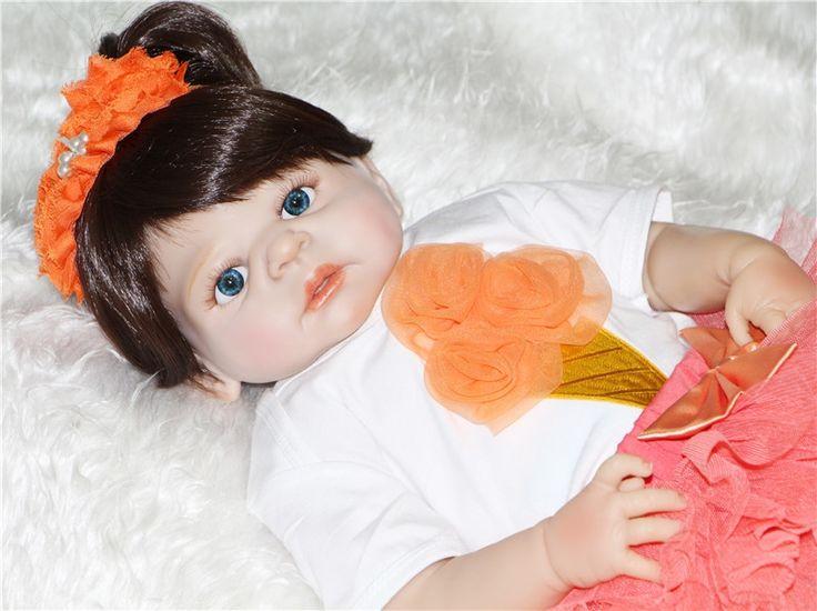 86.68$  Know more - http://aiff3.worlditems.win/all/product.php?id=32796684244 -  22'' bebe doll reborn Full Body silicone reborn babies dolls children gift fashion dolls bonecas reborn de silicone inteiro