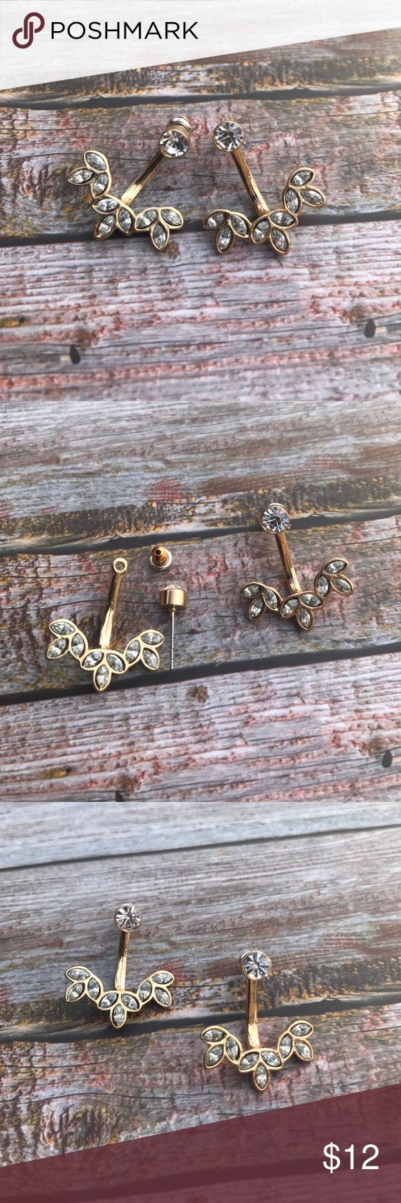 << Gold & Glam Front Back Rhinestone Earrings >> These babies are perfect too add a bit of rhinestone glam to any outfit! Flare it up with these front and back earrings! Hypo allergenic Boutique Jewelry Earrings