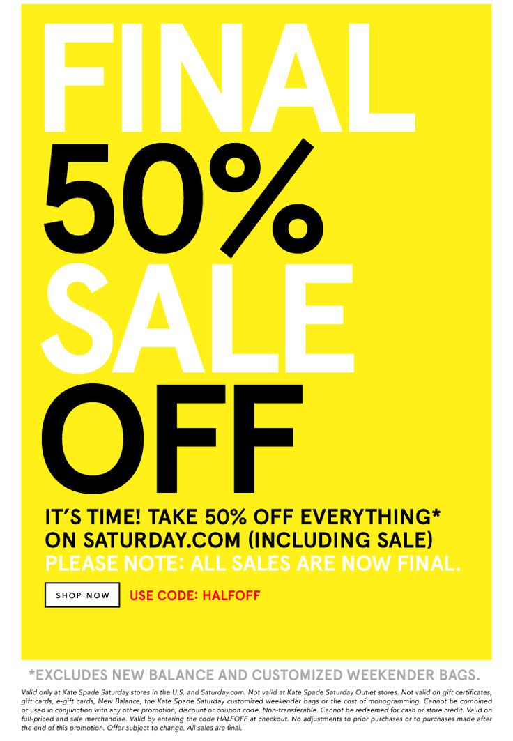 FINAL SALE 50% OFF! It's time. Take 50% off everything. SHOP NOW.