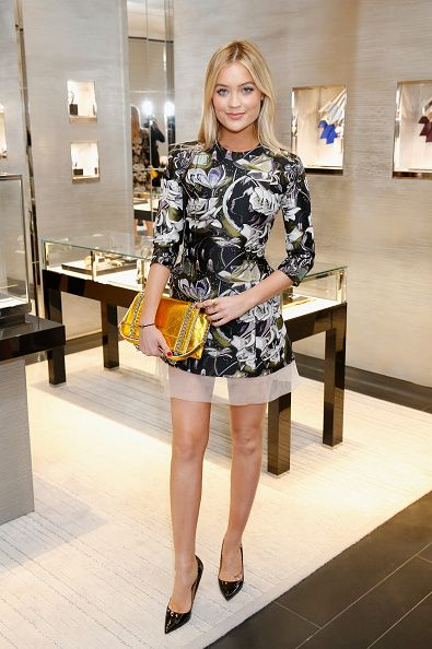 Laura Whitmore in Dior attends the House of Dior Boutique Launch Party in New Bond Street on June 8 2016 in London England
