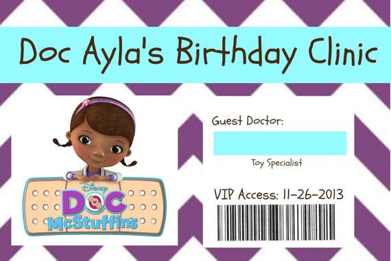 Doc Mcstuffins Name Badge By Socialbutterflies98 On Etsy