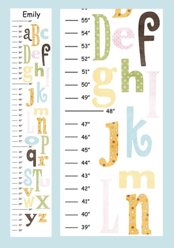 Personalized Alphabet v4  Canvas Growth Chart