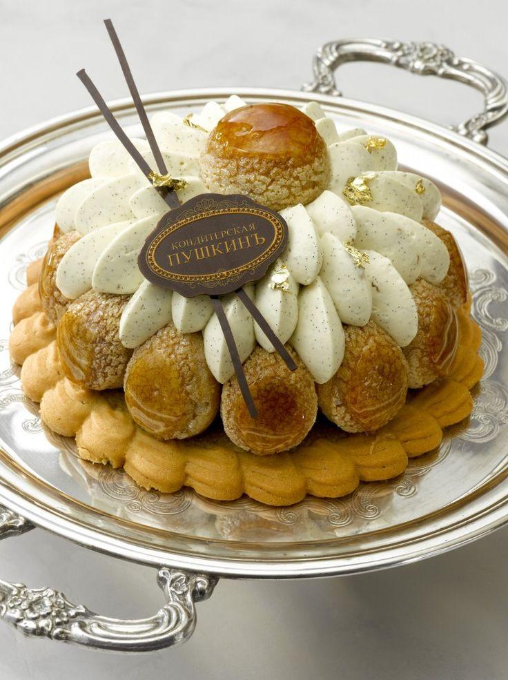 Saint-Honoré noisette caramel - Café Pouchkine