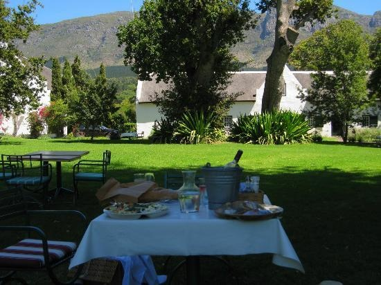 Buitenverwachting Restaurant -Cape Town- Served on the terrace, seated in very comfortable wicker armchairs, has all the hallmarks of a fine dining evening meal, but the informality is more tolerant to kids. Food is, as always delicious and plentiful.