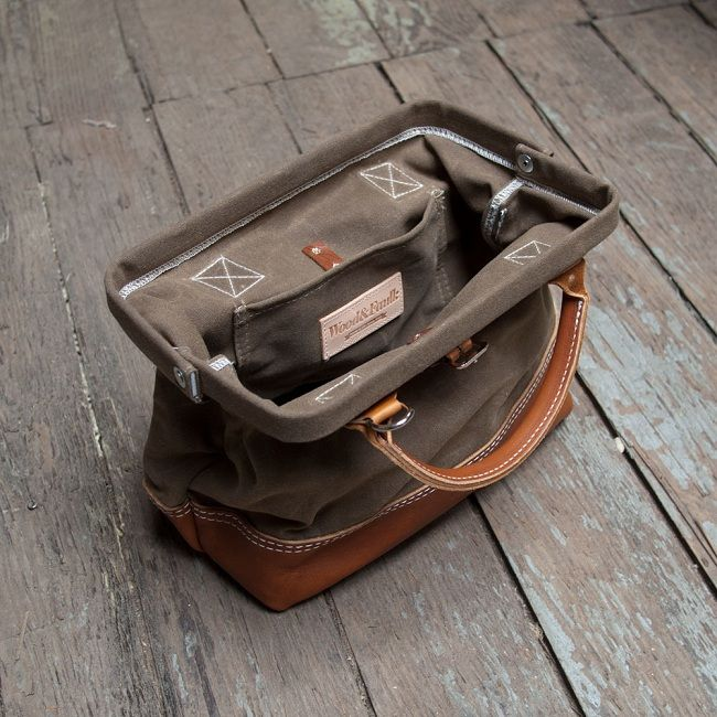 Wood and Faulk Bags is a brand set up by a guy has worked in the trade as an electrician and plumber among others. His bags resemble a workmans style bag