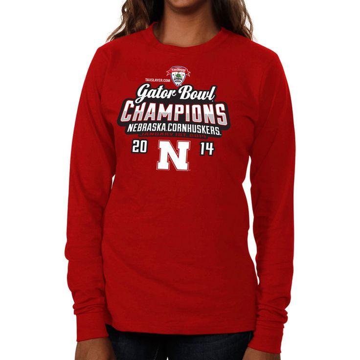 Nebraska Cornhuskers 2014 Gator Bowl Champions Women's Baby Bowl Champs Long Sleeve T-Shirt - Scarlet