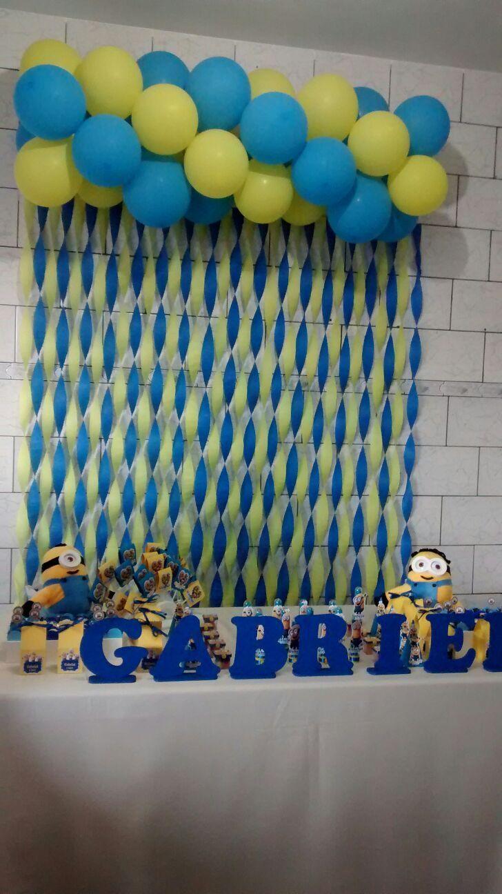 Meu Príncipe Gabriel: Painel de cortina de papel crepom