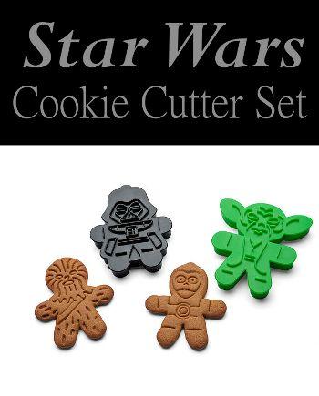 Star Wars Cookie Cutters. Yoda, Darth Vader, C3P0, Chewbacca. (Affiliate link)