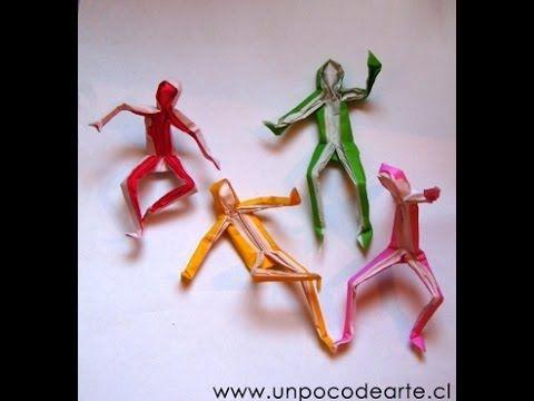 Человечек из бумаги  Поделки оригами. Origami Little man
