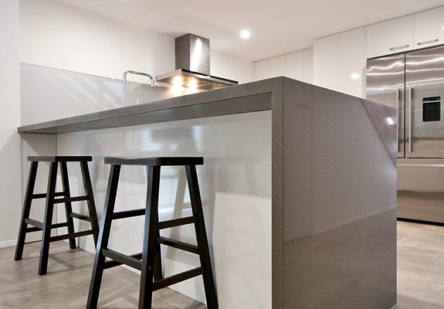 'TORNADO' benchtop with waterfall end.