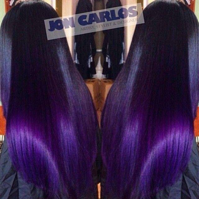 Dark purple weave