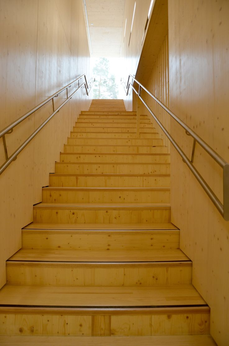 Stairs in Haltia. Photo: Meri Marttinen