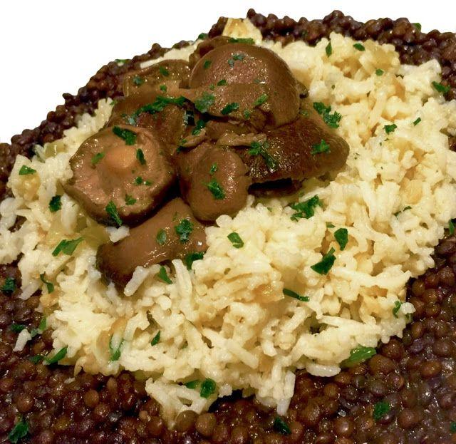 Día a día: Lentejas Caviar con Arroz Basmati y Setas