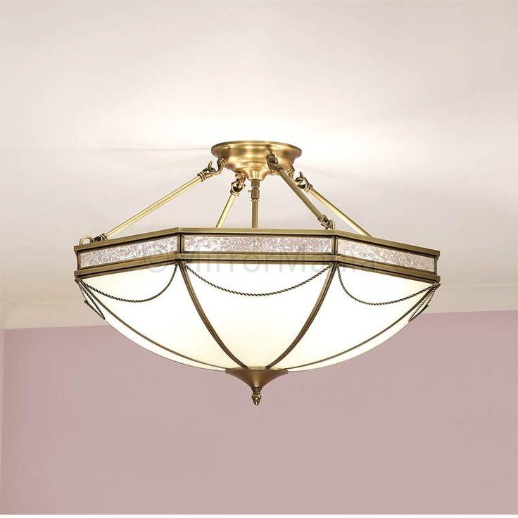 Russel Art Deco Small Short Pendant Ceiling Light